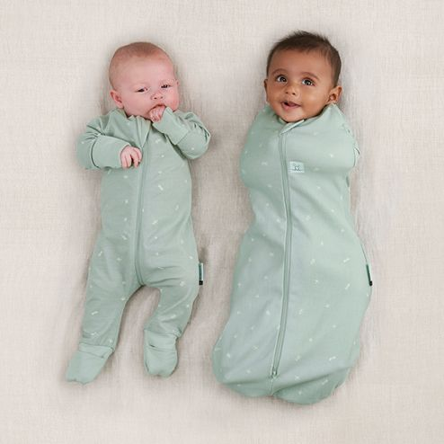 Transitioning baby from swaddling to arms-out sleeping